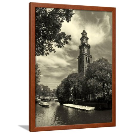Amsterdam. Canal #6 (Sepia). Framed Print Wall Art By rglinsky