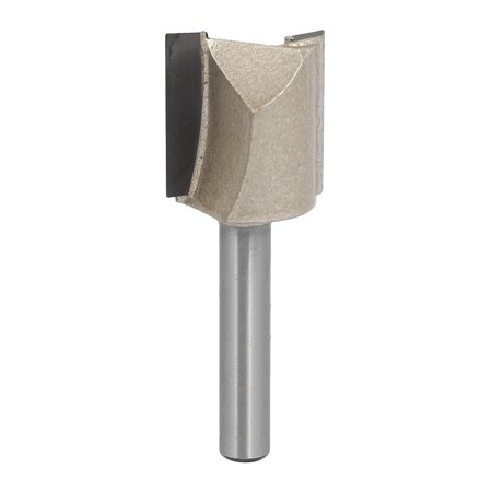 """3/4"""" Dia by 20mm Depth Double Flute Carbide Tip Straight Router Bit, 1/4"""" Shank"""