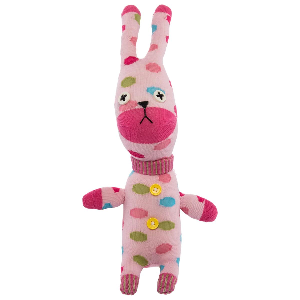 Sockabout Emiko Bunny Rabbit Sock Monkey Plush Kids Toy Childrens