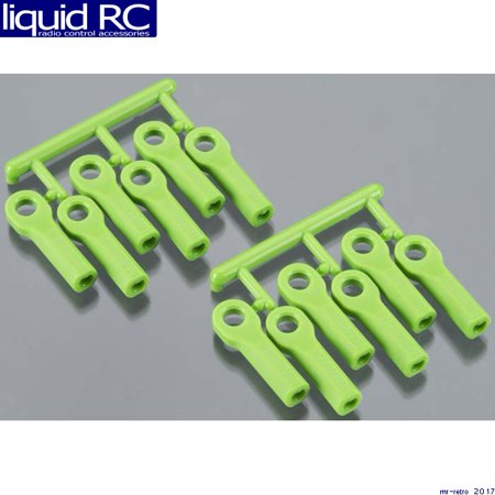 RPM R/C Products 80514 Rod Ends Long Green Traxxas (Traxxas Parts Green)