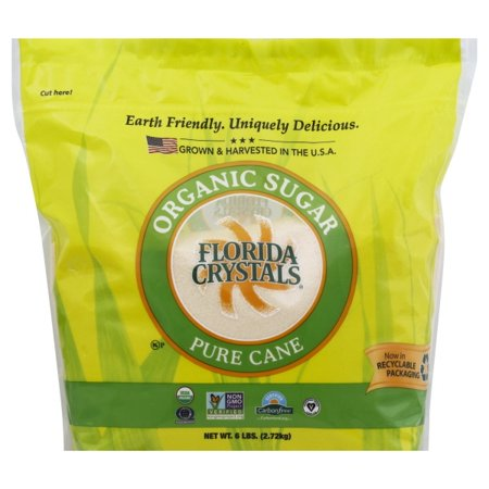 Peppermint Sugar Free Sugar - Florida Crystals Organic Raw Cane Sugar, 6 lbs