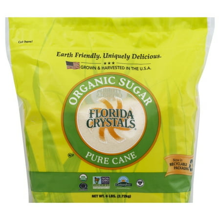 Florida Crystals Organic Raw Cane Sugar, 6 lbs