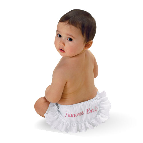 Personalized Ruffled Baby Diaper Cover