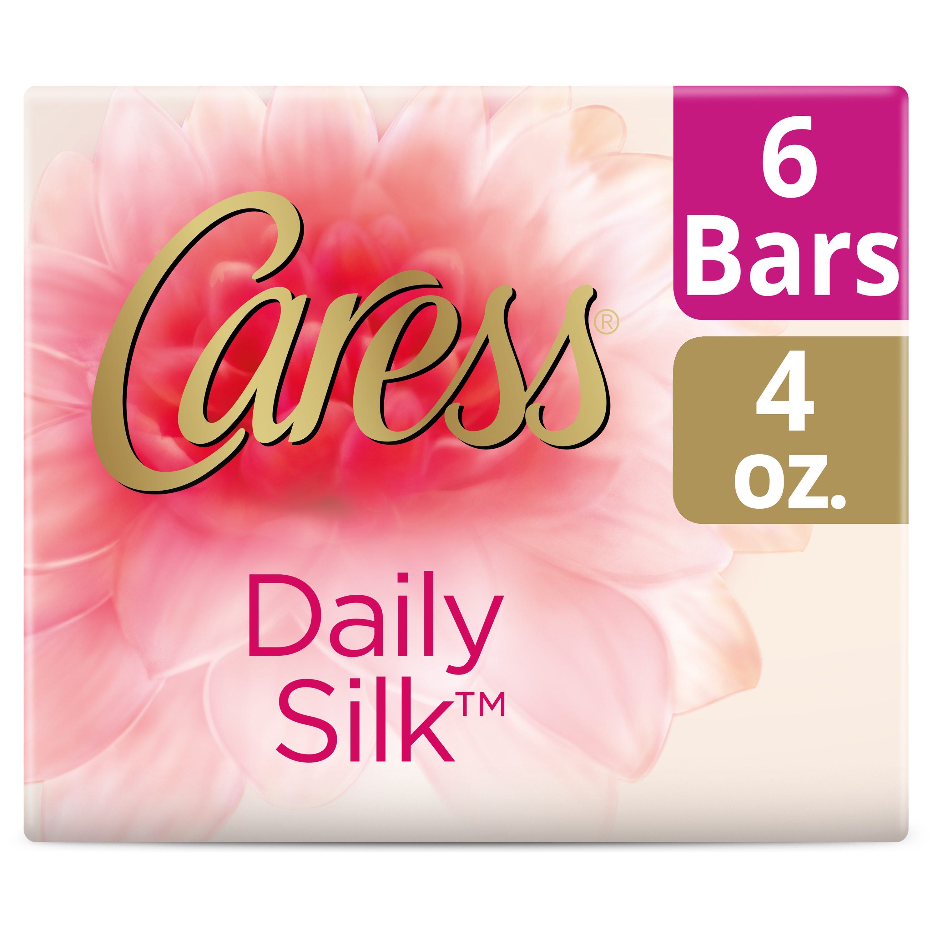 Caress Daily Silk Beauty Bar, 4 oz, 6 Bar
