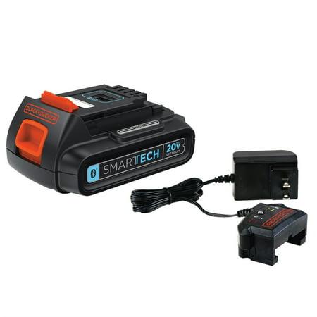 BLACK+DECKER 20-Volt Smartech + Cup Charger