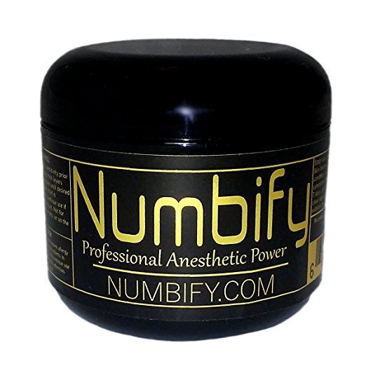 Numb-ify Numbing Cream - For Tattoo, Waxing, and Much Much More (4 Ounce)