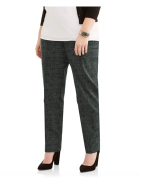 6b99d826f75af Product Image Women s Plus Printed Stretch Woven Straight Leg Career Pants. Lifestyle  Attitudes