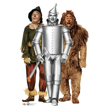 Tinman, Lion and Scarecrow (Wizard of Oz 75th Anniversary) Cardboard Stand-Up, 5.5ft (Lion Cardboard Stand)
