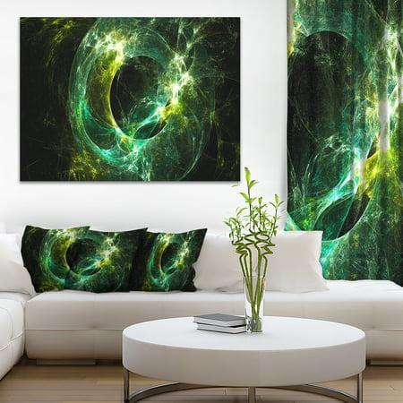 Green Sparkling Lightning - Abstract Canvas art print - image 3 de 3