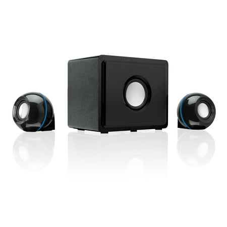 GPX 2.1 Channel Home Theater System with Subwoofer, Black,
