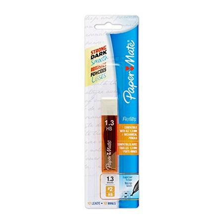 Paper Mate Mechanical Pencil Refills 1.3mm HB #2 12 Count