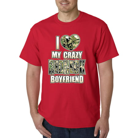070 - Unisex T-Shirt I Love My Crazy Redneck - Redneck Men