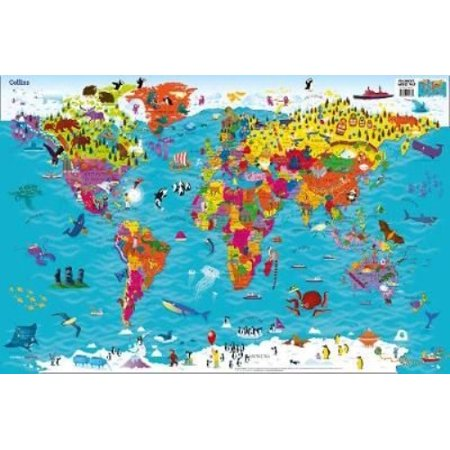 Collins childrens world map walmart collins childrens world map gumiabroncs Gallery
