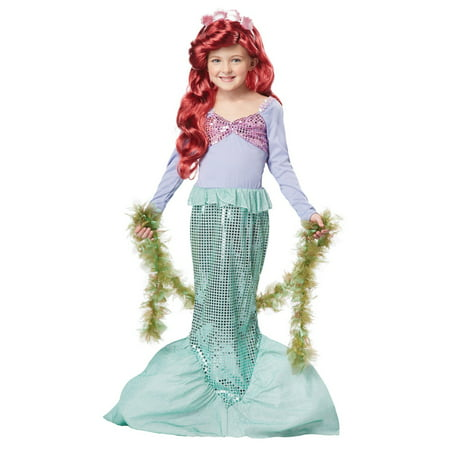 Little Mermaid Child Halloween Costume - Little Girl Halloween Metal Song