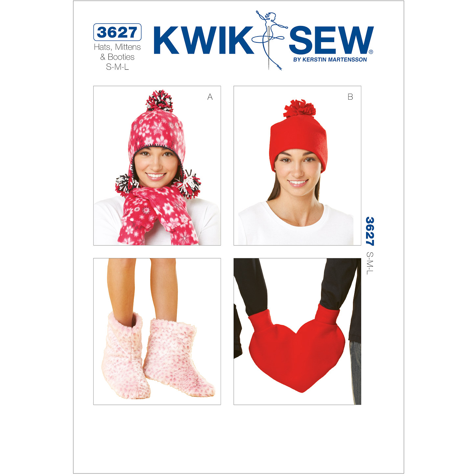 Kwik Sew Hats, Mittens and Booties, (S, M, L)