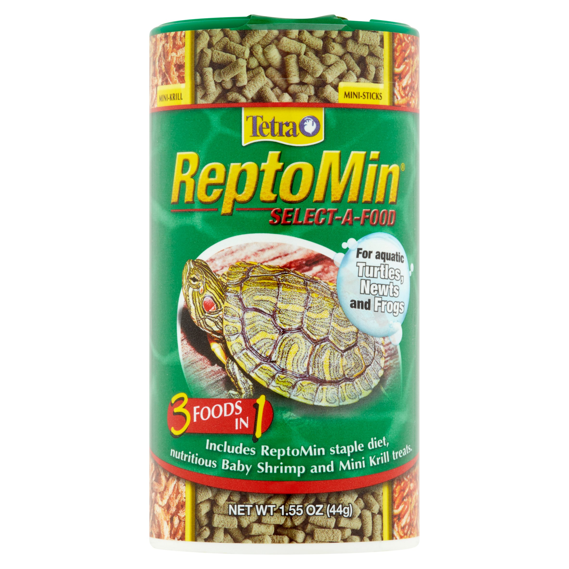 Tetra ReptoMin Select-A-Food 3 in 1 For Turtles, Newts & Frogs