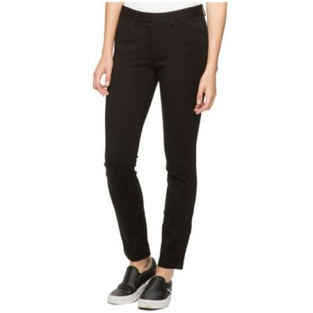 ANDREW MARC Womens Stretch Knit Ponte Pant (Black, 6)