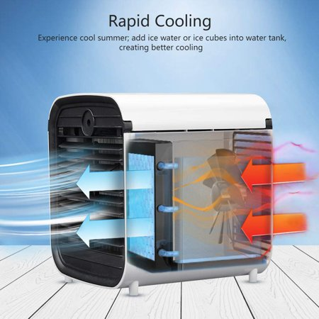 Personal Space Air Cooler, 3 in 1 USB Mini Portable Air Conditioning Fan, Humidifier Cooling Fan - image 6 of 7