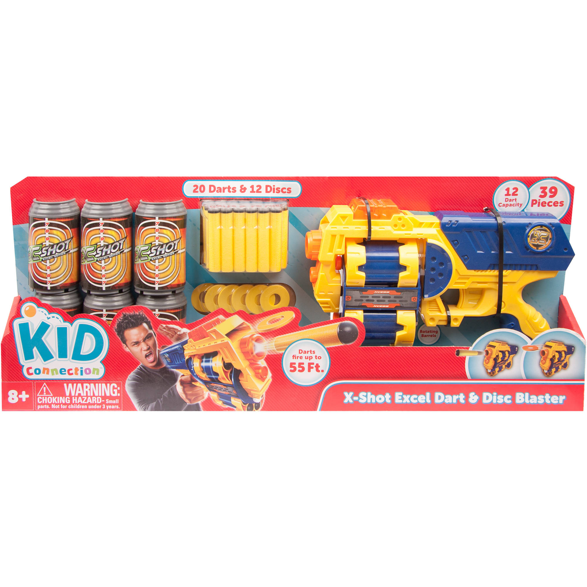 Kid Connection Xcess Dart & Disc Blaster (39-piece combo)