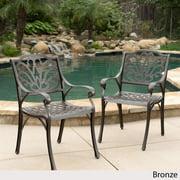 Alfresco Outdoor Cast Aluminum Dining Chairs - Set of 2