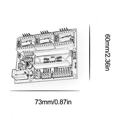 CNC Shield V4 Engraving Machine Stepper Motor Driver for Printer Arduino NANO - image 3 of 7