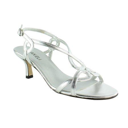 VANELi Womens Milbie963681-020 SilverMetNappa Sandals Size 6.5
