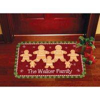 Personalized Gingerbread Family Doormat