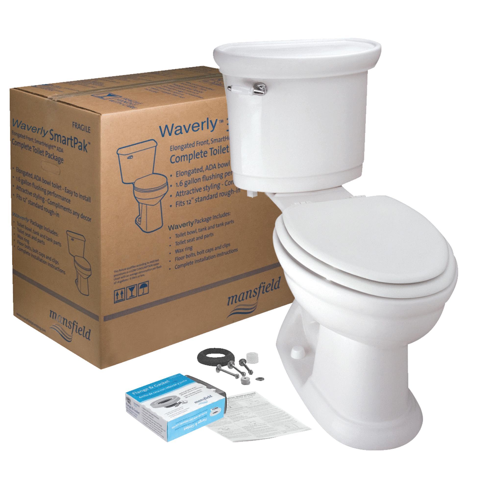 Waverly SmartHeight White ADA Toilet Kit