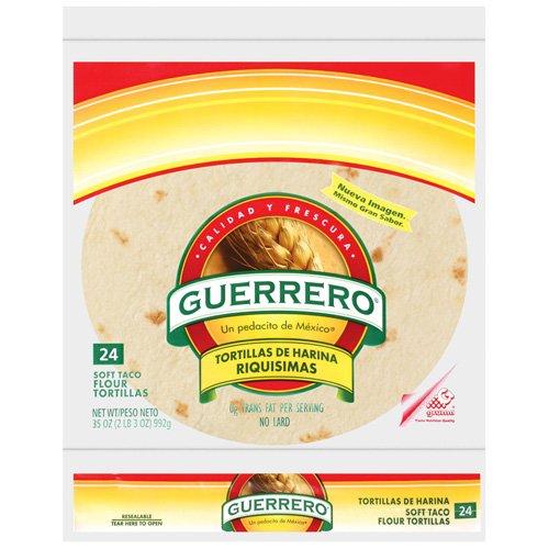 Guerrero Flour Soft Taco 24 Ct Tortillas 35 Oz Bag