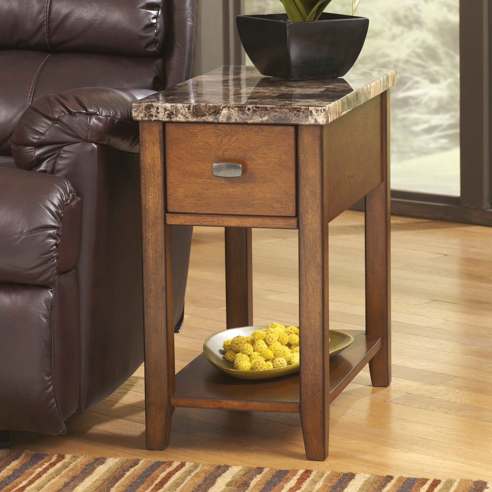 Signature Design by Ashley Breegin Chair Side End Table, Multiple Finishes