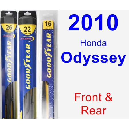 - 2010 Honda Odyssey Wiper Blade Set/Kit (Front & Rear) (3 Blades) - Rear