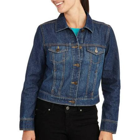 b8eee6544f1 Faded Glory - Women s Classic Denim Jacket - Walmart.com