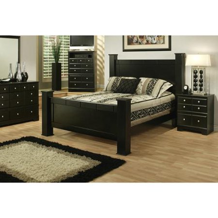 Sandberg Furniture Elena Two Nightstand Bedroom Set 33400 Eastern King Bed and 2 Nightstand Set