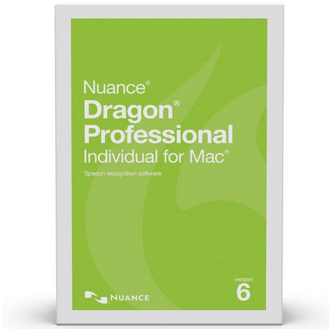 Nuance S601A-S00-6.0 Dragon Professional Individual for Mac State & Local Government Version 6 Speech Recognition Software