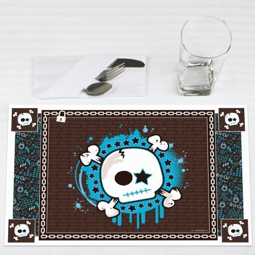 Skullitude - Boy Skull - Party Placemats - Set of 12