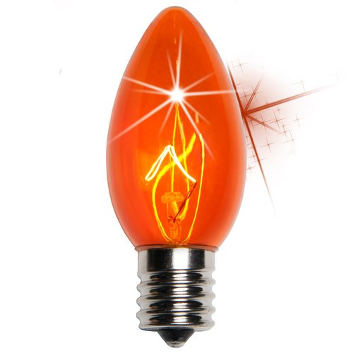 C9 Twinkle Transparent Bulb, Yellow