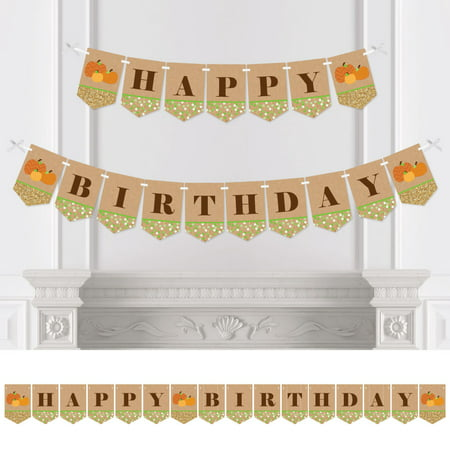 Fall Party Decorations (Pumpkin Patch - Fall Birthday Party Bunting Banner - Pumpkin Party Decorations - Happy)