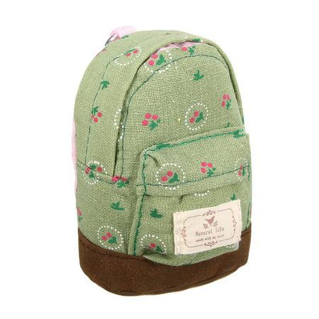 Cute Canvas Mini Coin Wallet Key Card Backpack Cash Bag Zipper Pouch Purse Girls Kids Women - image 1 of 5