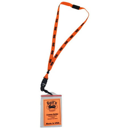 Alpine precision tooling inc license holder with lanyard for Fishing license walmart