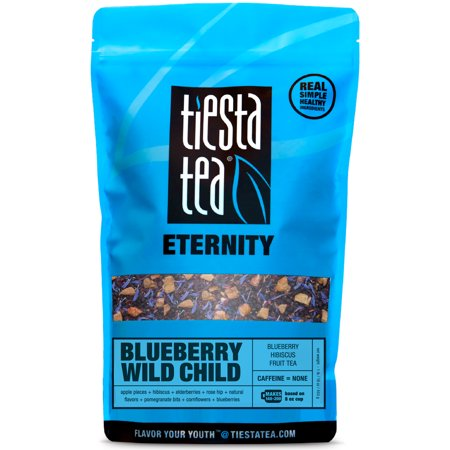 Tiesta Tea Eternity, Blueberry Wild Child, Loose Leaf Herbal Tea Blend, Caffeine Free, 1 Lb Bulk Bag