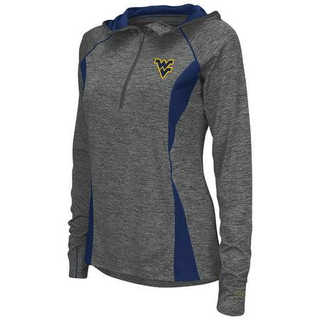 West Virginia Mountaineers Brass - Womens West Virginia Mountaineers Quarter Zip Wind Shirt
