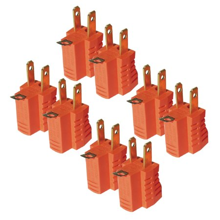 8pc 3 to 2 Prong AC Power Outlet Grounding Adapter Tap Plug UL Listed (Outlet At Orange Stores)