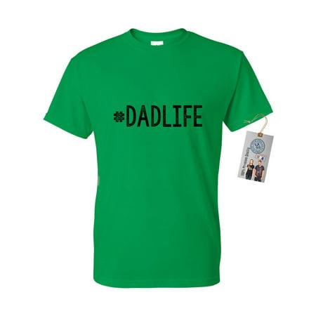 a5da4625 Custom Apparel R Us - #DadLife Dad Gifts Fathers Day Mens Short Sleeve T- Shirt - Walmart.com