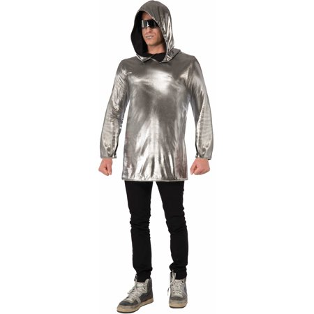 Womens  Silver Futuristic Space Astronaut Alien Hoodie Costume Accessory (Space Alien Costume Ideas)