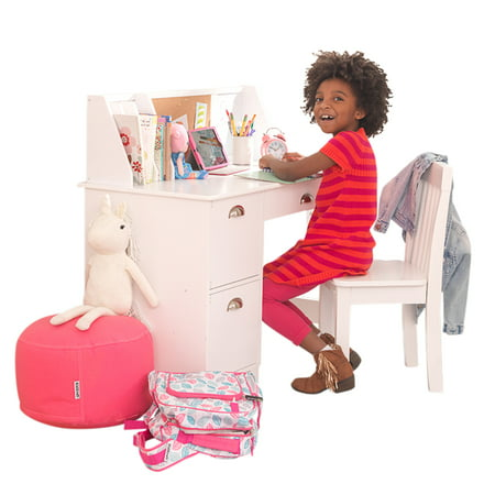KidKraft Kids Desk with Chair and Corkboard, White or - Fancy Dress Ideas For Girls Halloween