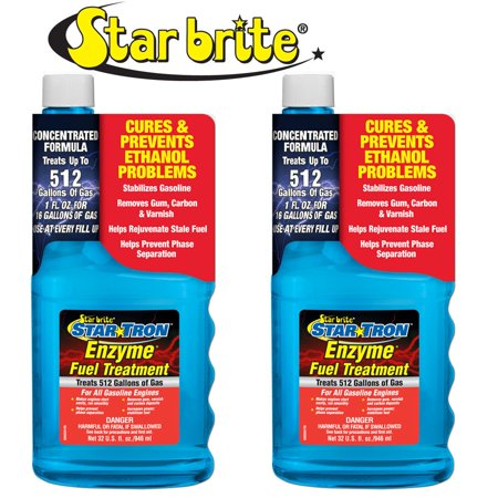 2-Pack Star Brite Star Tron Enzyme Fuel Treatment Concentrated Gas Formula (Best Engine Treatment For Burning Oil)