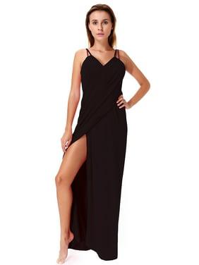 LELINTA Women's Deep V-Neckline Sexy Strap Backless Beach Long Dress Bikini Wrap Bikini Mate Swimsuit Swimwear Cover Up Plus Size Solid Color L-5XL