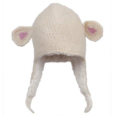 Lamb Ham - Lamb Infant Peruvian Crochet Hat