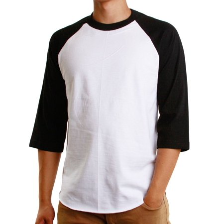 Pirate Skull Baseball Jersey - Men's Raglan 3/4 Sleeves Baseball T-Shirt Casual Cotton Jersey S-3XL