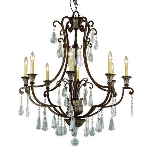 Trans Globe Lighting  3968  Chandeliers  Crystal Flair  Indoor Lighting  ;Brown